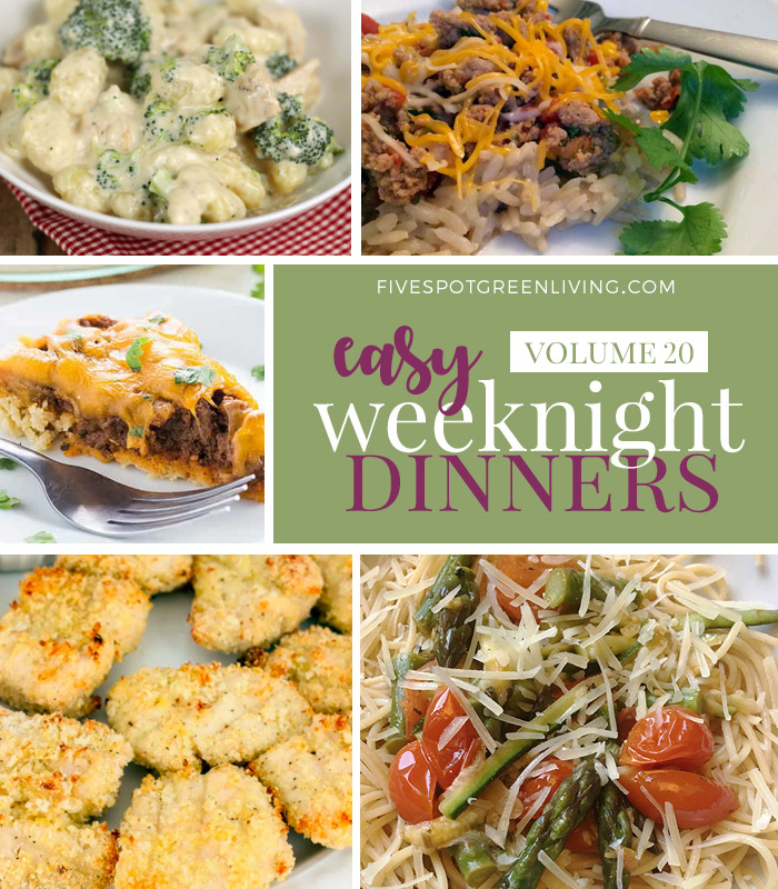 Easy Weeknight Dinners Meal Plan Volume 20
