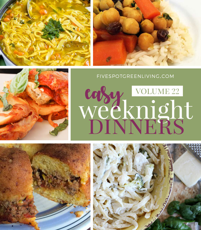 Easy Weeknight Dinners Meal Plan Volume 22