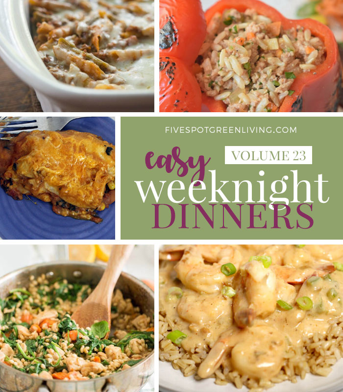 Easy Weeknight Dinners Meal Plan Volume 23