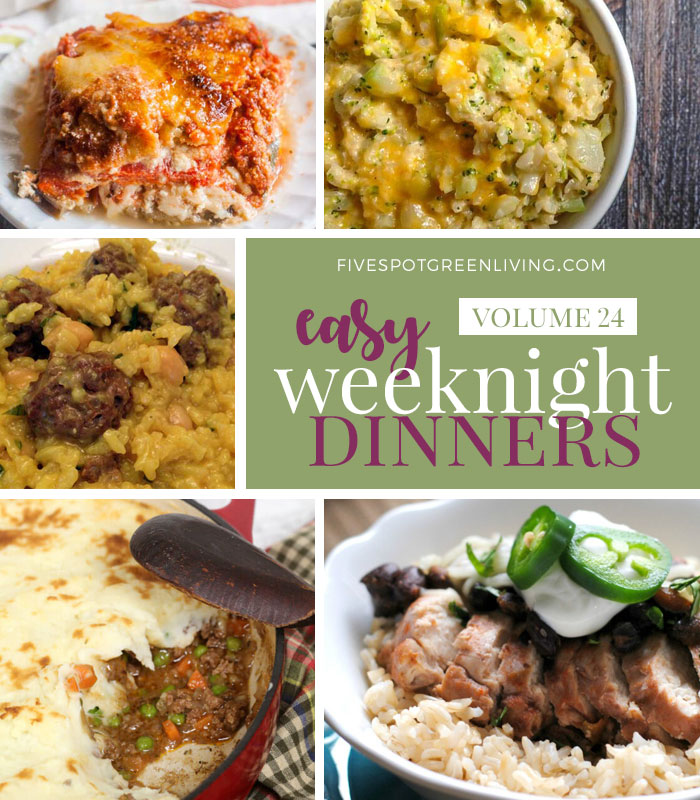 Easy Weeknight Dinners Meal Plan Volume 24