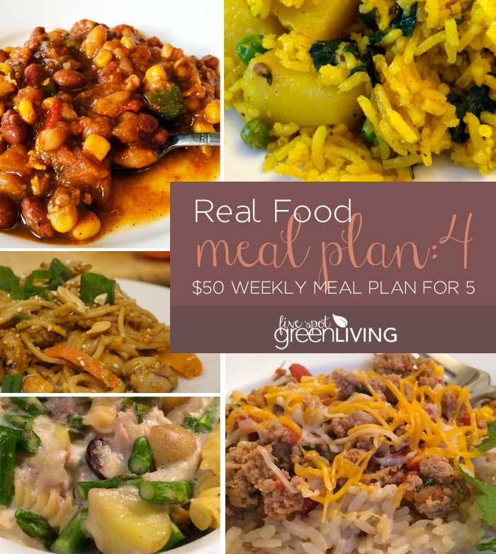 Real Food Meal Plan Volume 4