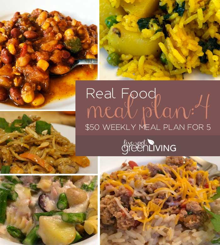 Real Food Meal Plan Volume 4