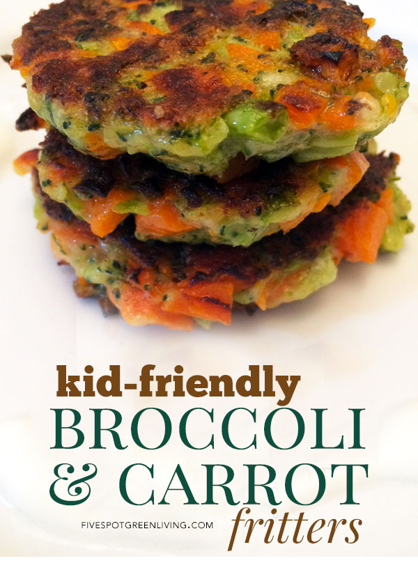 Healthy Kid-Friendly Broccoli and Carrot Vegetable Fritters
