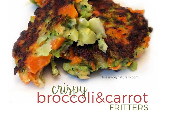 Healthy Recipes: Crispy Broccoli and Carrot Fritters