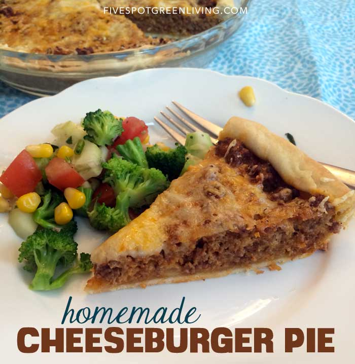 Real Food Cheeseburger Pie