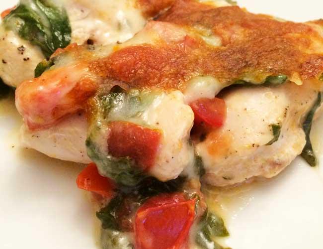 blog-recipe-chicken-italian-5 Easy Cheesy Italian Chicken Recipe with Tomatoes and Spinach