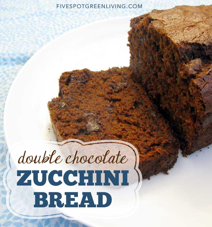 All Natural Decadent Chocolate Chip Zucchini Bread