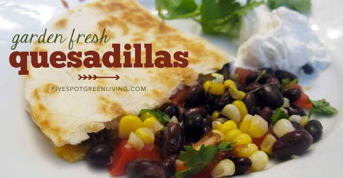 Garden Fresh Black Bean Quesadillas