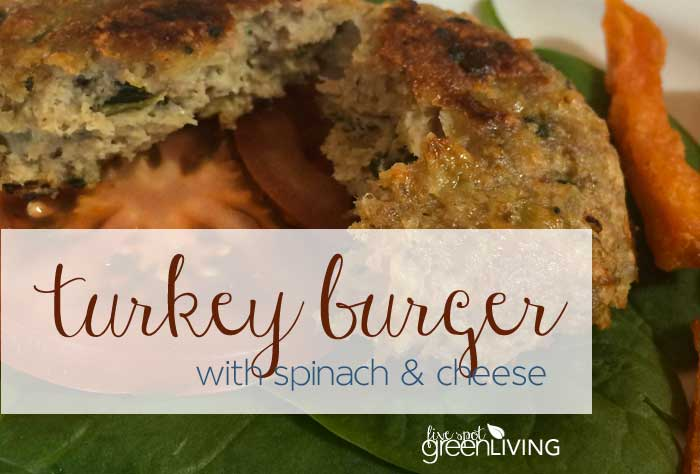 Turkey Burger with Spinach and Cheese