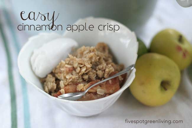 10 Days of Healthier Thanksgiving Recipes - Easy Apple Cinnamon Crisp
