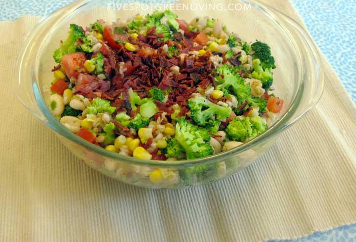 farro salad with white beans