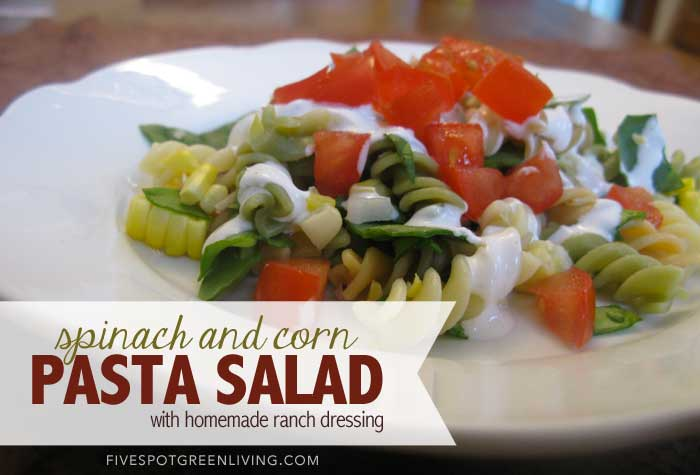 Healthy Recipes: Spinach and Corn Pasta Salad Recipe