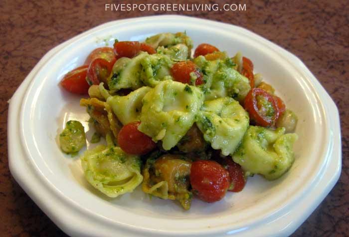 Basil Pesto Tortellini Salad