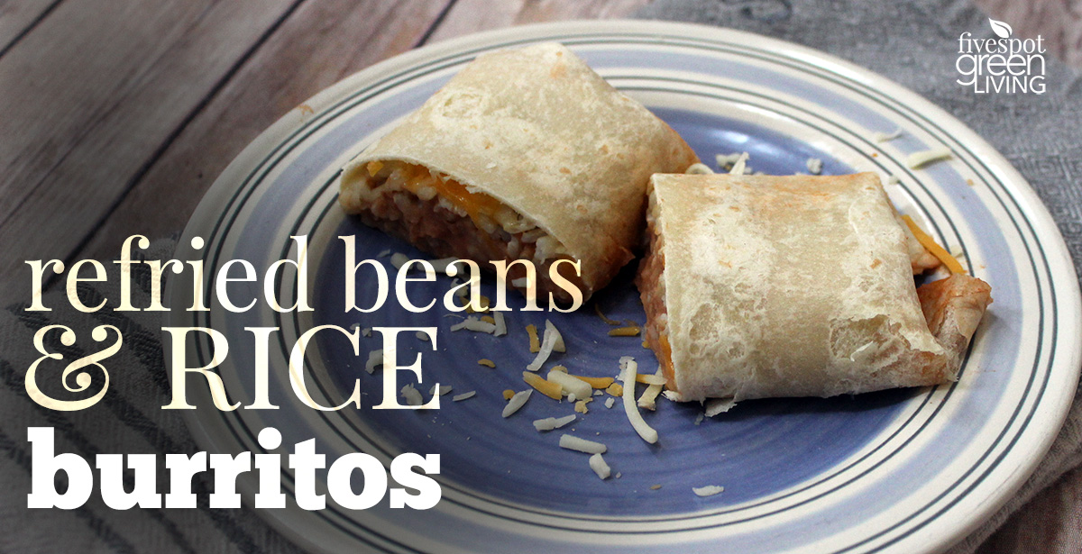 Healthy Refried Beans and Rice Burrito Recipe