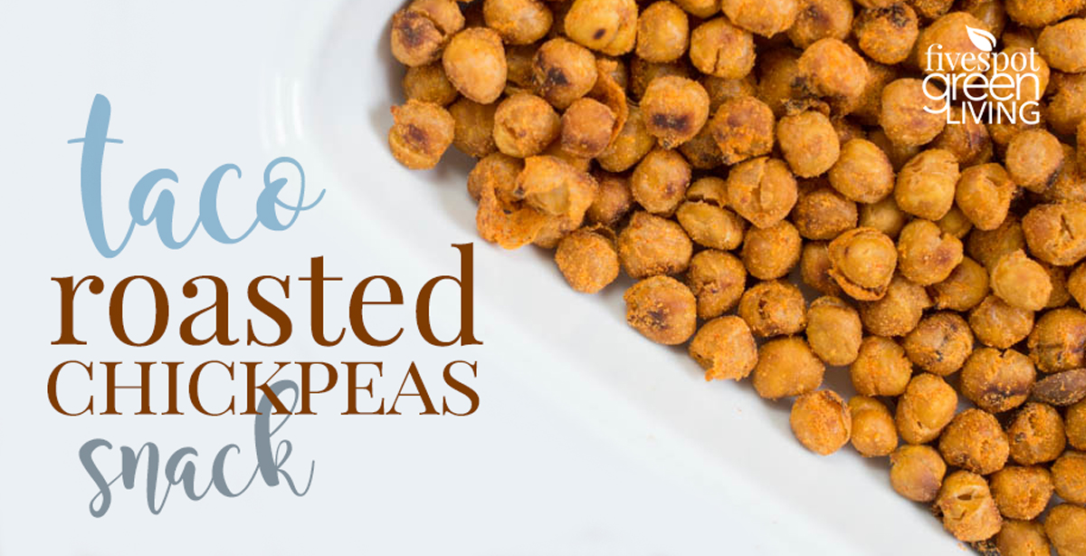 Roasted Taco Flavored Chickpeas Snack