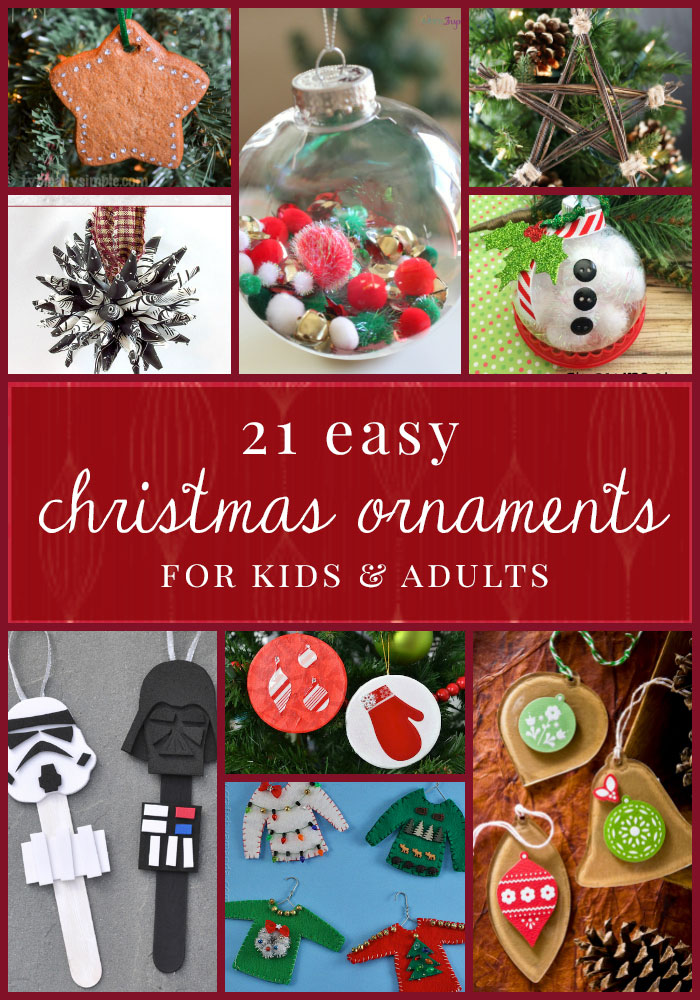 21 easy christmas ornaments for kids and adults