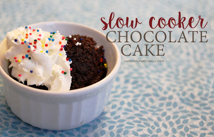 Easy Slow Cooker Chocolate Cake