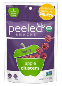 Peeled Organic Snacks, Apple Clusters