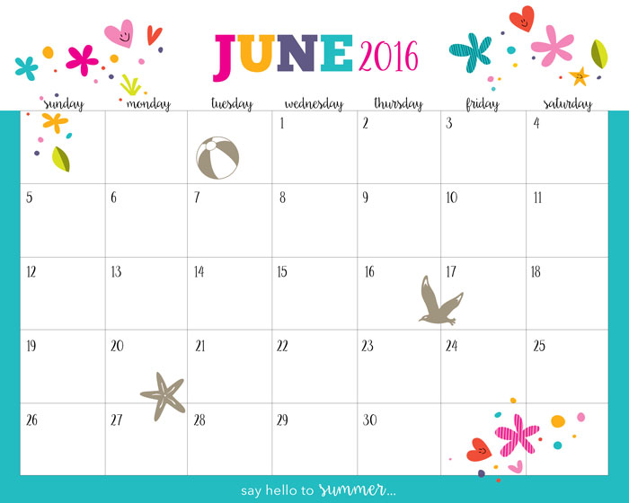 Download The Free Printable Calendar 2016 Here