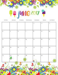 Summer Calendar June 2017