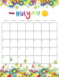 Summer Calendar May 2017