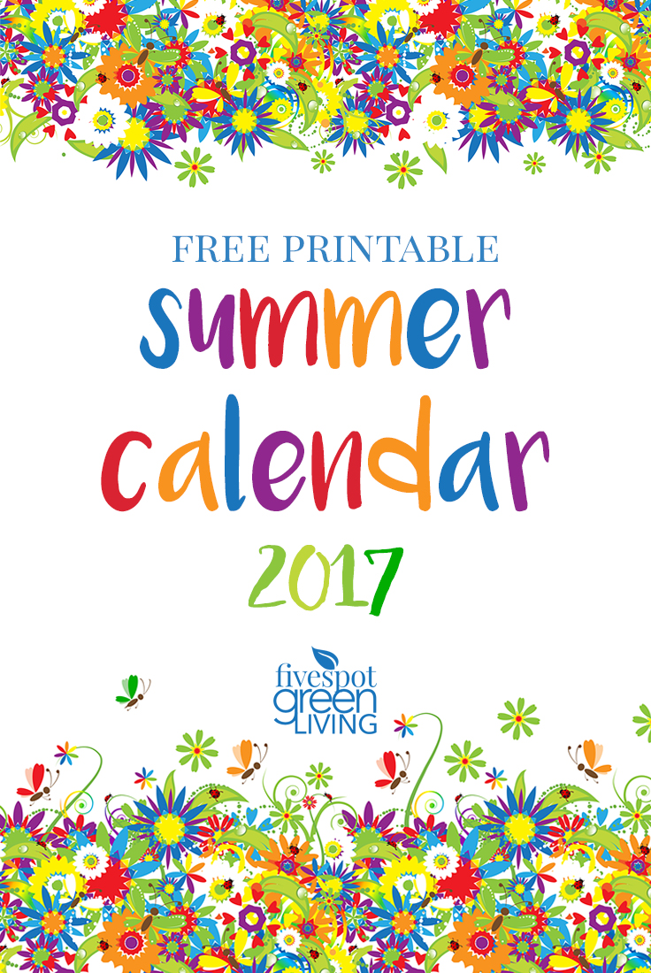 Summer Calendar 2017