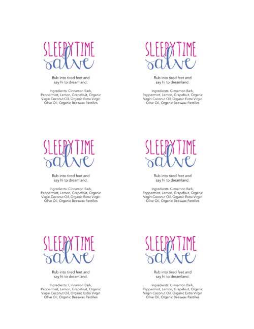 Homemade Sleepytime Salve Gift Tags