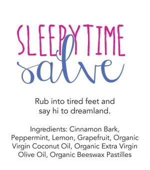 Homemade Sleepytime Salve with Essential Oils Gift Tags