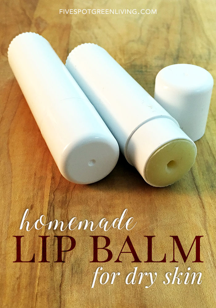Do you have dry skin and chapped lips in the winter months? Try this homemade tea tree oil lip balm recipe that can be used on lips and skin!