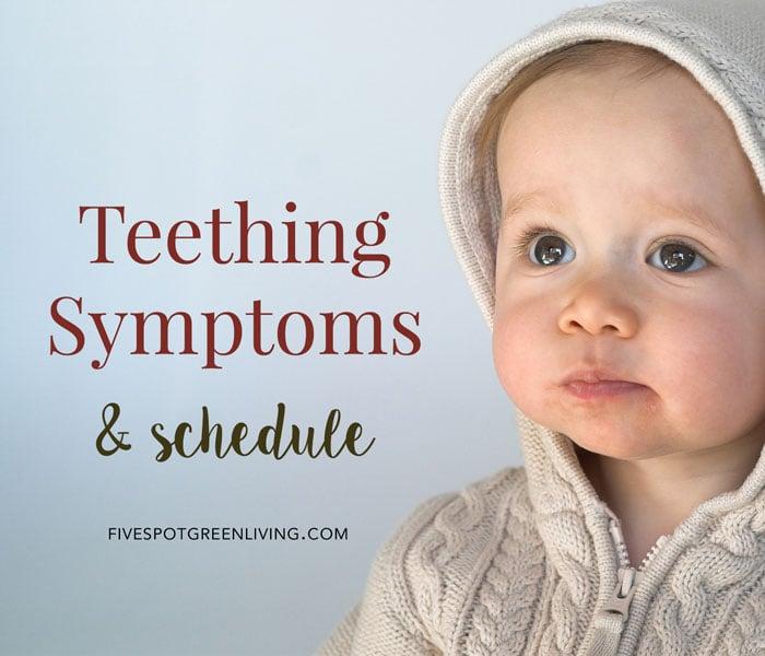 Baby Teething Symptoms and Schedule PLUS Free Teething Chart Printable