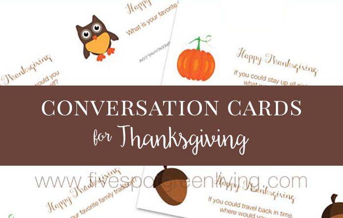 Thanksgiving Conversation Starters for Kids Free Printable