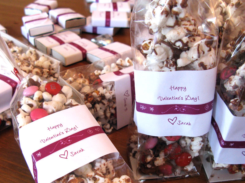 Valentine Treats with Personalized Labels