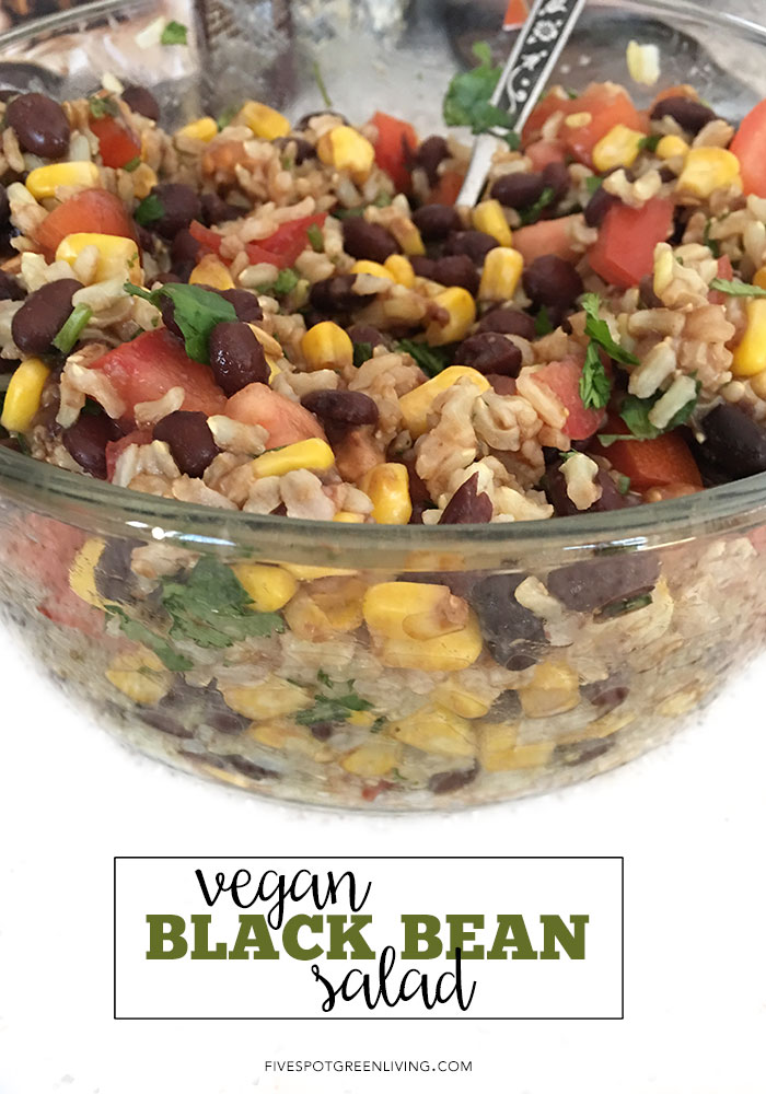 Delicious You'll Never Believe It's Vegan Black Bean Salad - This super quick and really easy salad helped me realize veganism isn't all tofu and barley!