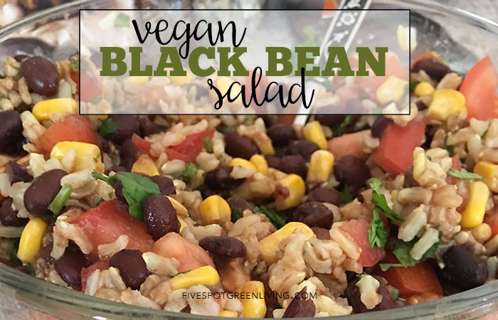 Delicious You'll Never Believe It's Vegan Black Bean Salad