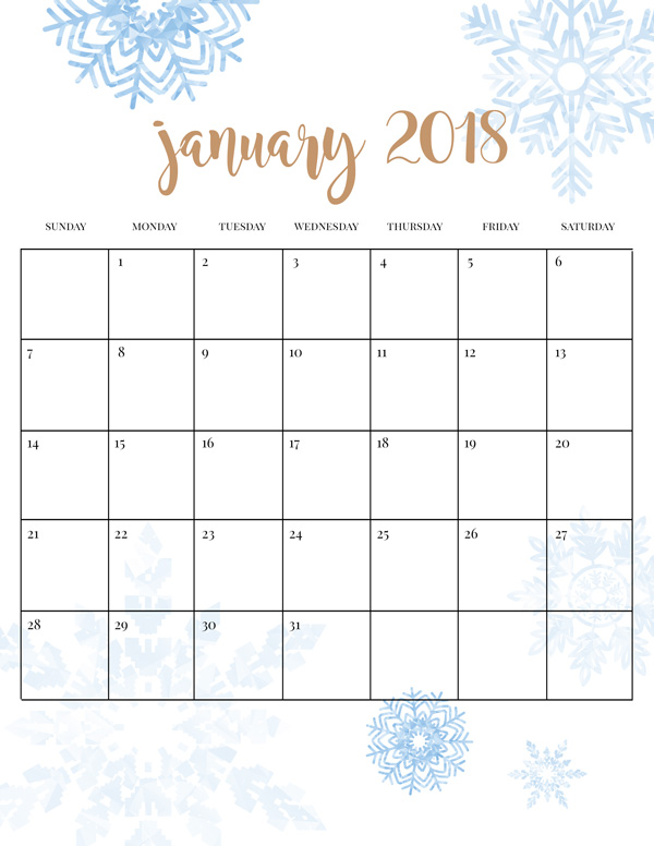 blog-winter-calendar-2018-january-600px 20 Fun Winter Activities for Kids Plus Free Printable Calendar