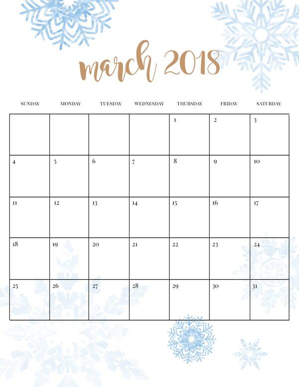 blog-winter-calendar-2018-march-600px 20 Fun Winter Activities for Kids Plus Free Printable Calendar
