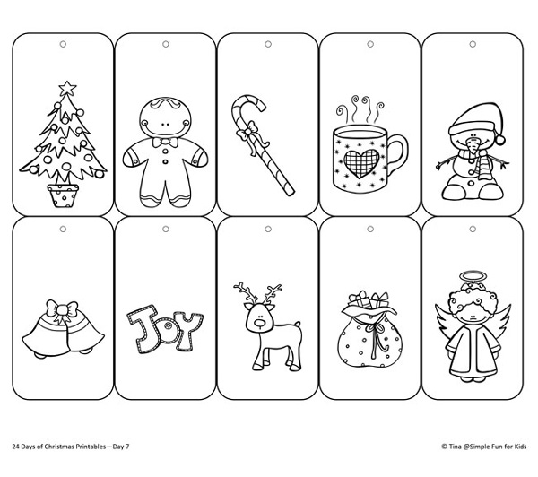 Color Your Own Gift Tags / Simple Fun for Kids