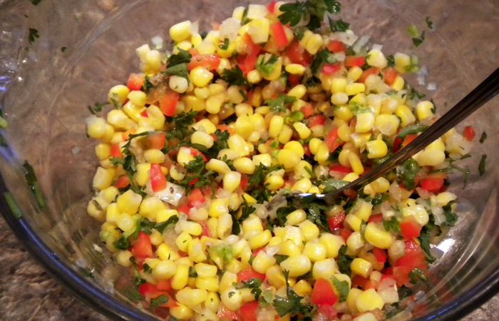 Spicy Corn Relish Appetizer
