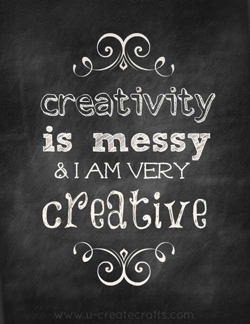 creative and messy