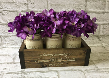 Custom Memorial Planter Box