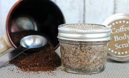 DIY Coffee Scrub - DIY Homemade Christmas Gift Ideas, Printables and Activities