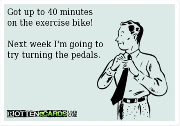 exercise-bike-funny-quotes Today I Choose to Be Happy