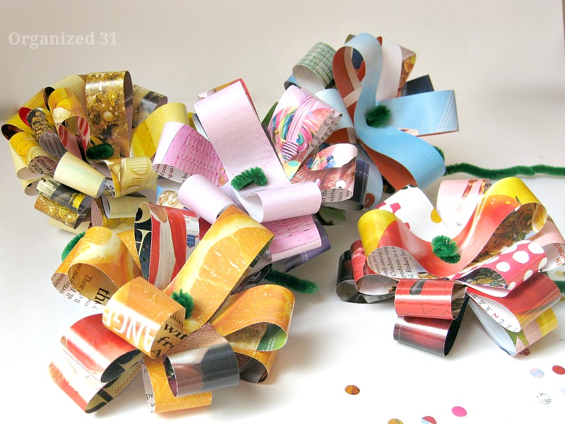 upcycle magazines into paper flowers