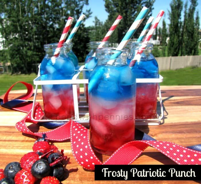 Frosty Patriotic Punch