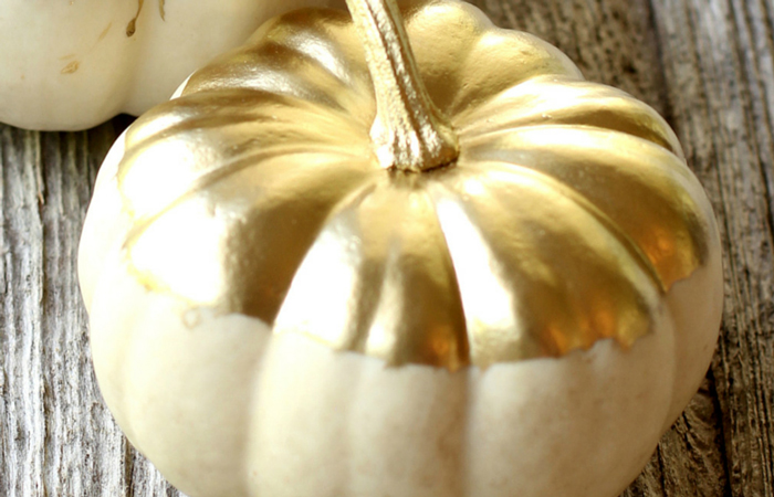 How to make gold gilded pumpkins