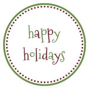holiday-labels_happy-holidays-1-1 Homemade Christmas Gifts, Printables and Activities