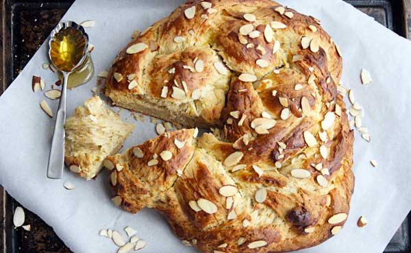 Honey Almond Challah Bread - Homemade Bread Recipes