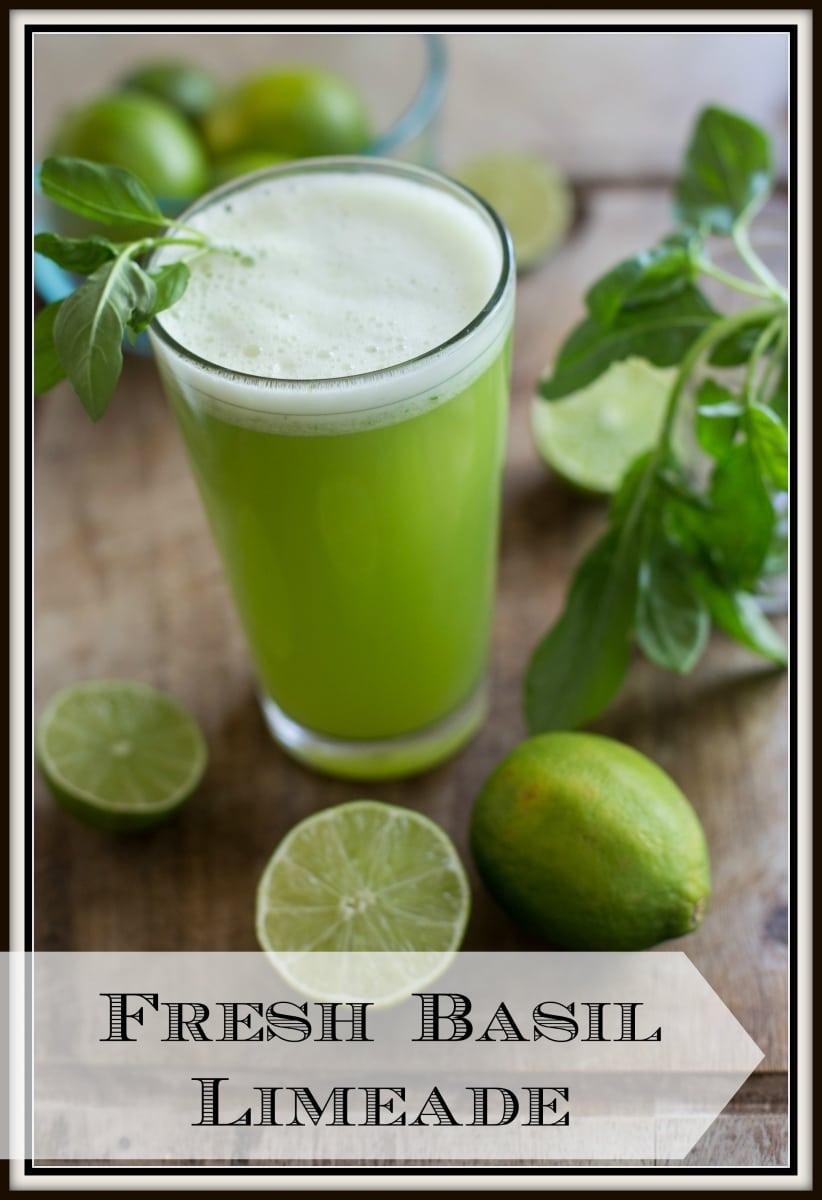 Fresh Basil Limeade