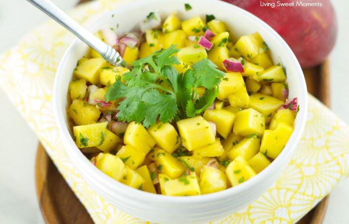 mango-salad-recipe 30 Healthy Appetizers for Summer BBQs and July 4th