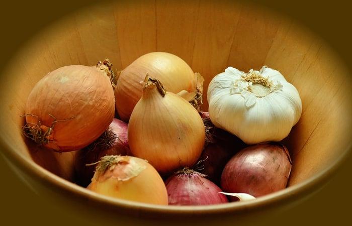 onion and garlic for homemade pesticide